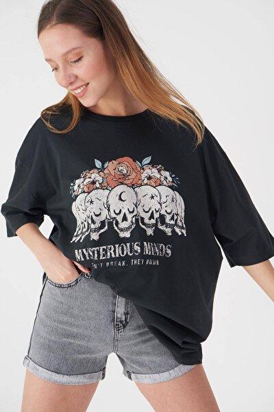 Baskılı T-shirt P9371 - B11