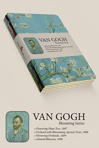 Van Gogh 4'lü Defter Seti 2 - Blooming Series - Çizgisiz - 64 Sayfa - 14x21cm