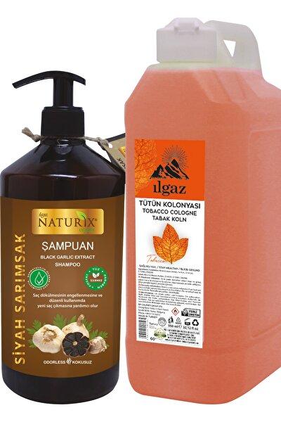 600 öl Siyah Sarımsak Şampuan Tuzsuz Şampuan Dökülme Karşıtı - 1000 ml Bidon Tütün Kolonyası