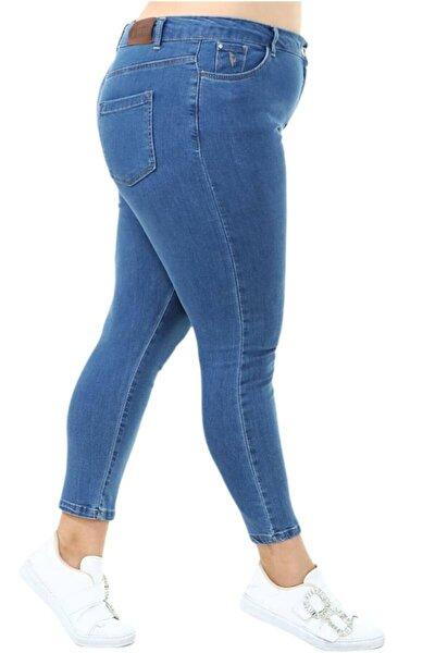 Büyük Beden Yüksek Bel Regular Ft Strech Kot Pantolon