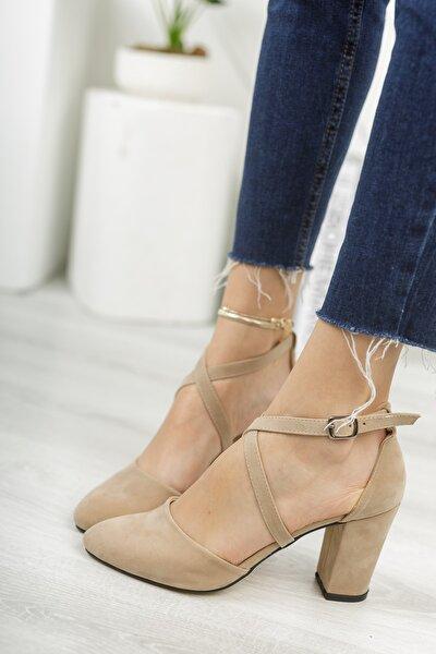 Ivory 9 Cm Topuklu Çapraz Bantlıkadın Ayakkabı