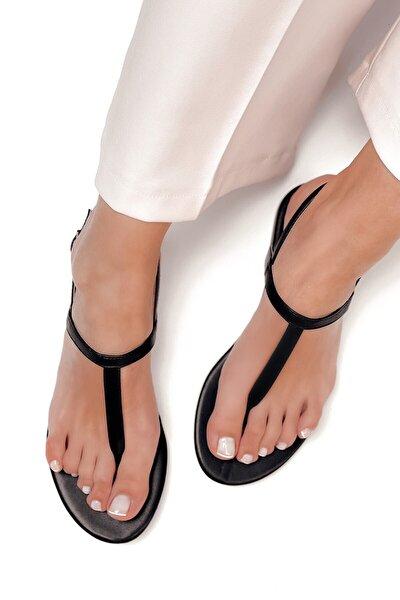 Kadın Siyah Parmak Arası Sandalet