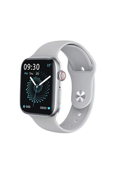 Smart Watch Akıllı Saat, Gümüş Renk Tam Dokunmatik Ekran, İos ve Android Uyumlu