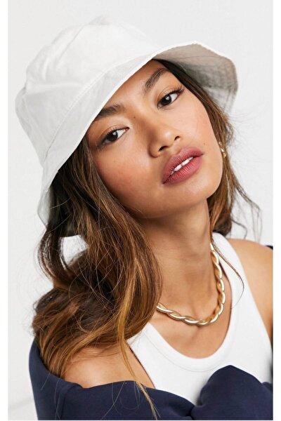13372 Beyaz Bucket Şapka
