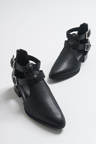 9 Sıyah Cilt Kadın Ayakkabı