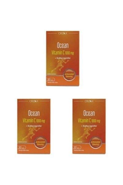 Orzax Ocean Vitamin C 1000 Mg 30 Tablet 3 Adet
