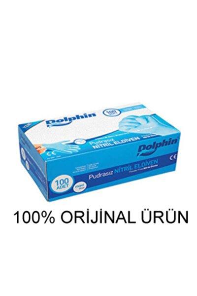 Mavi Nitril Eldiven Pudrasız (M) 100lü Paket