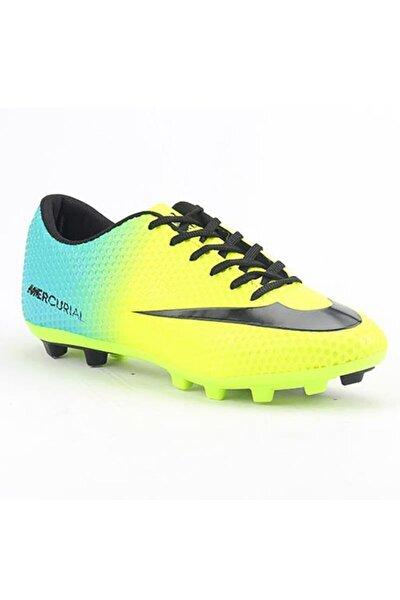 Erkek Sarı Krampon Futbol Spor Ayakkabı