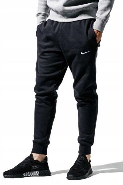 Sportswear Fleece Jogger Taper Leg Dar Kesim Eşofman Altı Şardonlu Polarlı Siyah