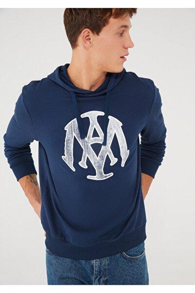 Mühür Logo Baskılı Lacivert Sweatshirt 065753-29743
