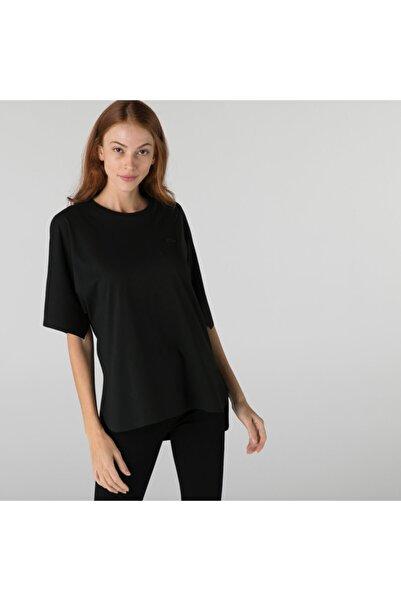 Kadın Loose Fit Bisiklet Yaka Siyah T-shirt
