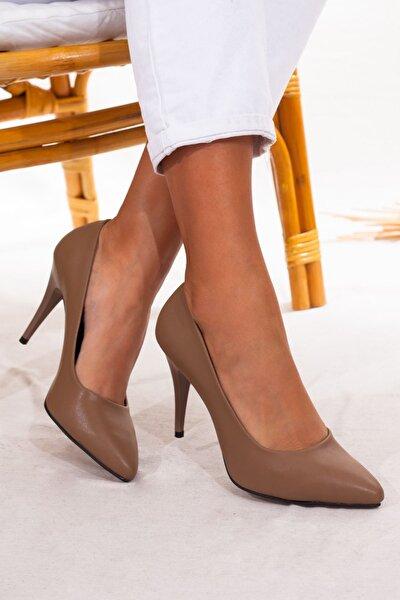 Vizon Stiletto Topuk Kadın Ayakkabı • A212kcyo0008