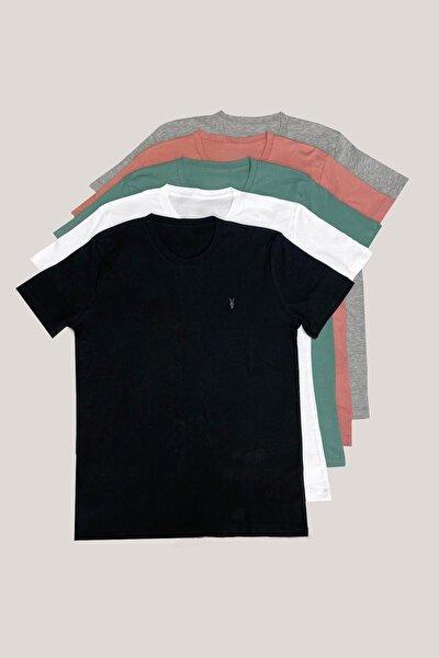 Standart Kalıp Basic T-shirt 5'li