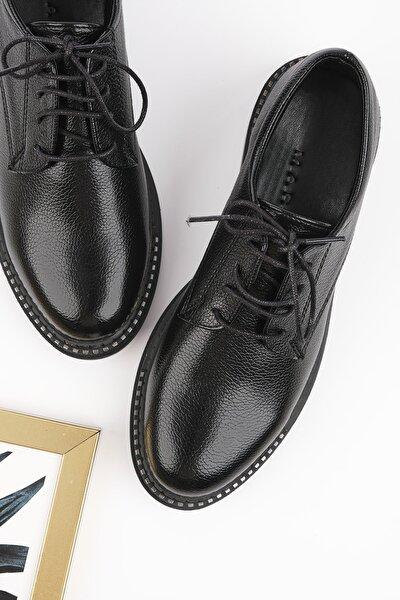 Kadın Siyah Oxford Ayakkabı Adef