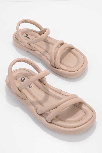 Kadın Ten Sandalet K05954010009