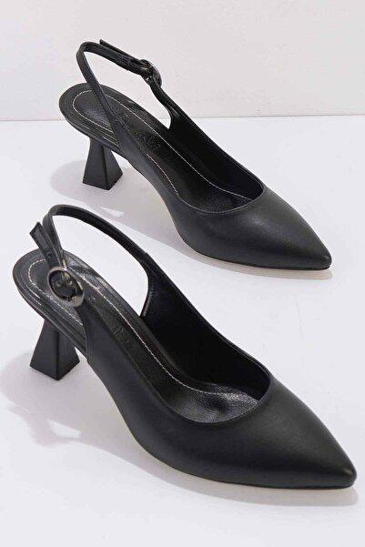 Siyah Kadın Klasik Topuklu Ayakkabı K01840500009