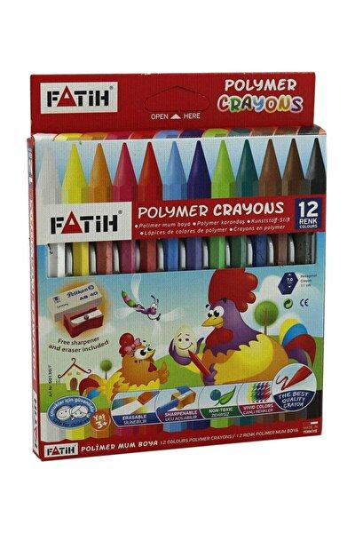12 Renk Wax Crayons Uzun Mum Boya 50220