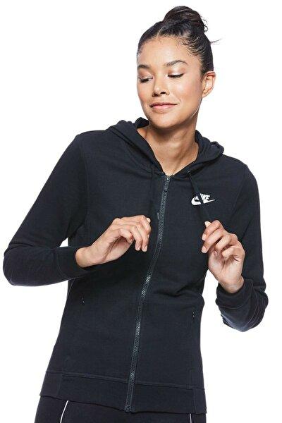 Cepler Fermuarlı Full Zip Siyah Kadın Sweatshirt Cı1148-010