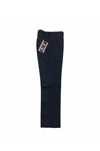 Çocuk Okul Pantalonu Kanvas Yarım Lastik Ilkokul Orta Okul Kaliteli Asaf Lacivert