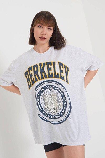 Baskılı Oversize T-shirt P9551 - M7