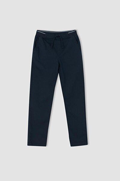 Lacivert Erkek Çocuk Regular Fit Esnek Belli Gabardin Pantolon U7190A621AU
