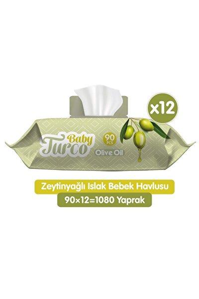 Zeytinyağlı Islak Bebek Havlusu 12x90 Adet