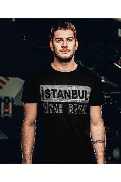 Istanbul Siyah Beyaz Erkek T-shırt