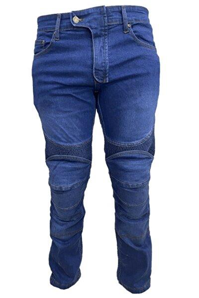 P050 Kevlar Kot Motosiklet Pantolonu Mavi