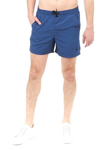 Erkek Su İtici Kumaş Petrol Regular Fit Casual Düz Normal Kesim Mayo Deniz Şortu