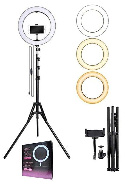 Led Işıklı Ring Light Tripod Adaptörlü Selfie Makyaj Işığı Youtuber & Kuaför Çekim Işığı