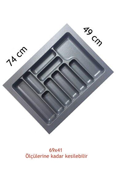 Gri Renk Çekmece Içi Düzenleyici Kaşıklık S-2289 / 74x49 Cm