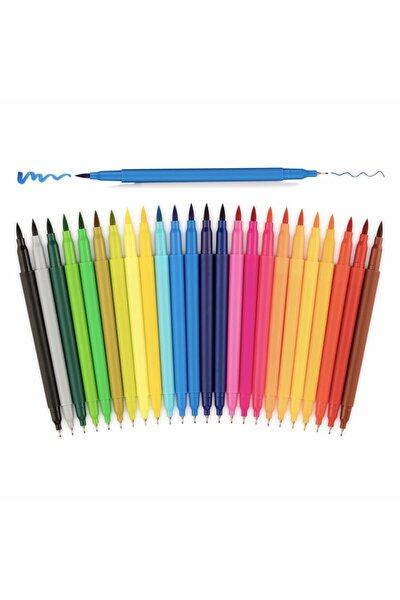 Çift Taraflı Fırça Uçlu Renklendirme Kalem Seti - 24 Renk