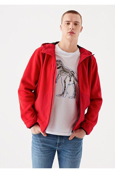Kapüşonlu Kırmızı Ceket 010394-33203