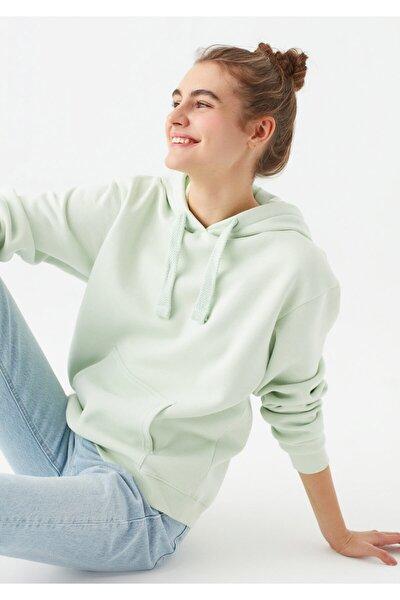 Kapüşonlu Yeşil Sweatshirt 167299-34126