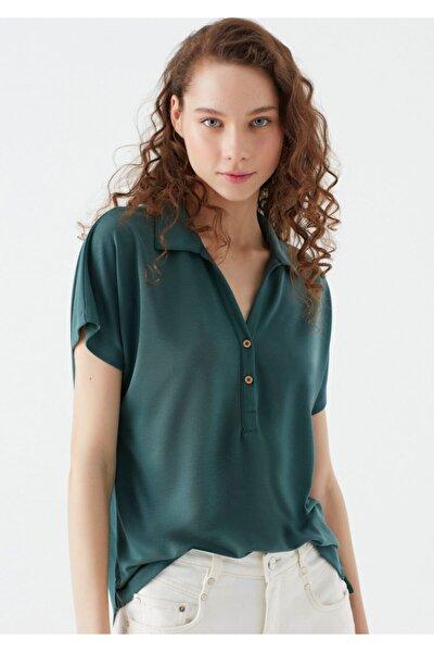 Lux Touch Yeşil Modal Tişört 168618-28316