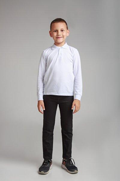 Comender Spor Model Likralı Kanvas Okul Pantolonu (gizli Bel Lastikli) Siyah