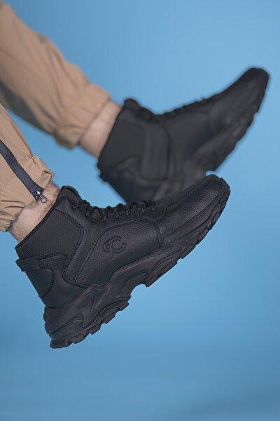 Siyah Siyah Unisex Sneaker Bot 0012108