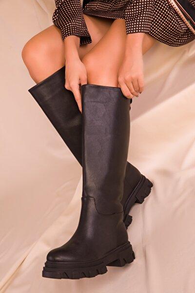 Kadın Siyah Çizme 16514