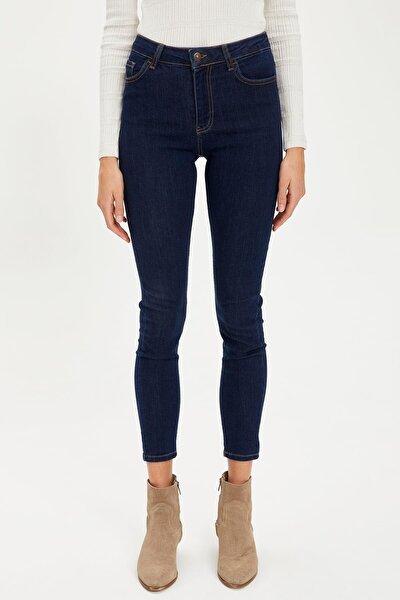 Kadın Koyu Lacivert Kot Skinny Fit Jean Pantolon S1184AZ20AU