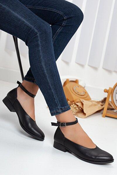 Beta Topuklu Cilt Ayakkabı Siyah