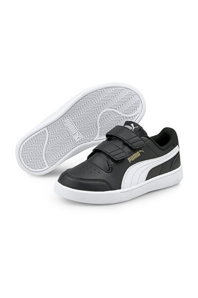 Unisex Çocuk Sneaker Puma Shuffle V PS Puma Black-Puma White- 37568903