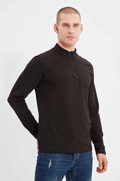 Siyah Erkek Uzun Kollu Yeni T-Shirt TMNSS20TS0017