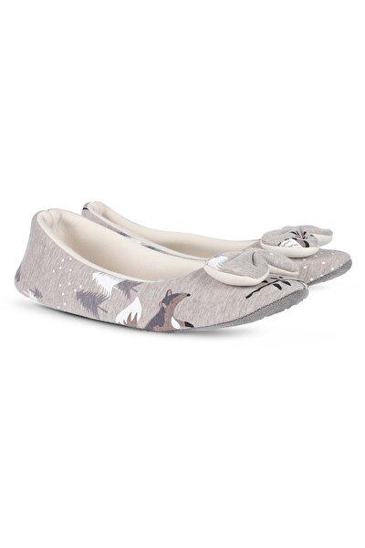Kadın Ev Ayakkabısı Ev Babeti Penye Kumaş