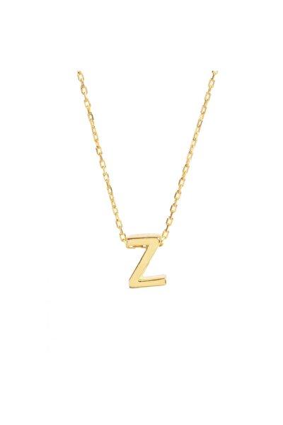 925 Ayar Gümüş Sarı Zincir Z Harf Kolye