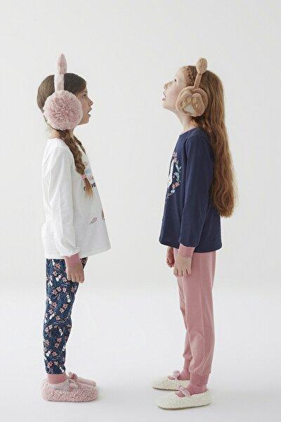 Çok Renkli Kız Çocuk Bunny 4lü Pijama Takımı