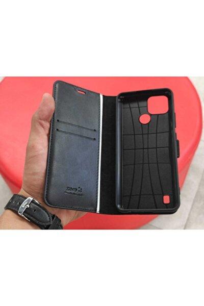Realme C21 Deluxe Cüzdanlı Standlı Tam Korumalı Kapaklı