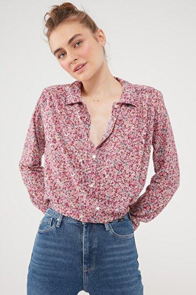 Kadın Çiçek Baskılı Mini Bluz 122863-35101 122863-35101