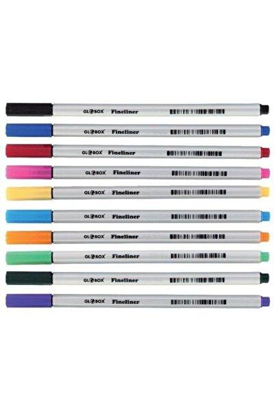 Fineliner Keçe Uçlu Kalem 10 Renk Pvc Kutu