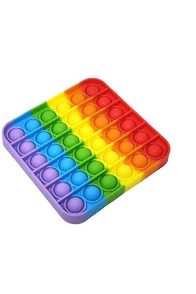 Pop It Push Bubble Fidget Özel Pop Duyusal Oyuncak Zihinsel Stres Azaltıcı ( Gökkuşağı / Rainbow )