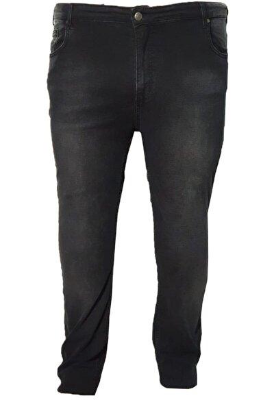 Erkek Füme Büyük Beden Likralı Kot Pantolon